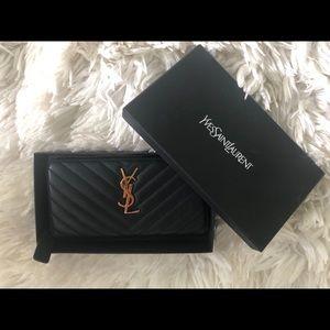 YSL zip wallet